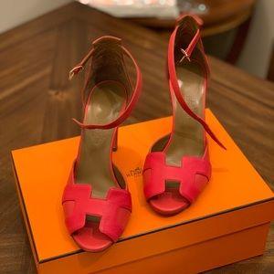 Hermès Women red leather high heels pumps